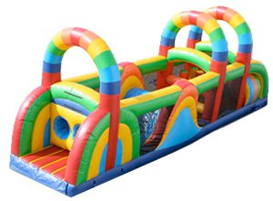 Inflatable 7 Element Rainbow Obstacle Course Orlando, FL