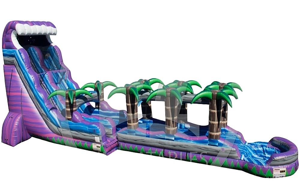 Purple Crush Tsunami Water Slide w/Slip n Slide - 24 feet tall, 60 feet long w/Giant Pool