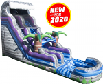 Tsunami Boulder Crush Water Slide - 20 Feet Tall w/Giant Pool