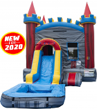 Castle Rock Bounce House & Slide Combo w/Pool