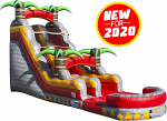 Tropical Lava Rush Water Slide - 20 Feet Tall w/Giant Pool