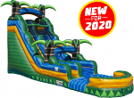 Tropical Emerald Rush Water Slide - 20 Feet Tall w/Giant Pool