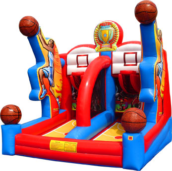 Inflatable Shooting Stars Basketball Game 17' Tall