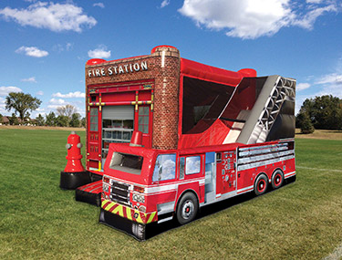 Fire Station Bounce House Rental - Orlando, FL