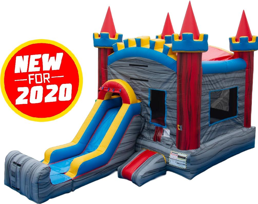 Mini Castle Rock Bounce House & Slide Combo - Dry