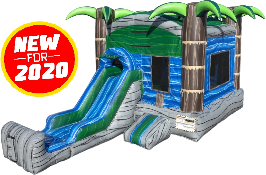 Mini Cascade Crush Bounce House & Slide Combo - Dry