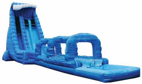 Blue Crush Double Lane Water Slide w/Slip n Slide - 30 feet tall, 70 feet long w/Pool