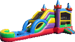 Lucky Combo Bounce House w/Dual Lane Water Slide & Pool