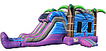 Purple Paradise Combo - Bounce House w/Dual Lane Dry Slide