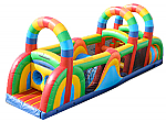 40' Inflatable 7 Element Rainbow Obstacle Course